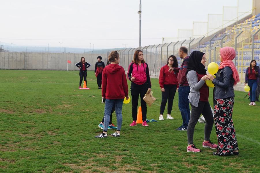 مشروع التواصل الاجتماعي (ثانويّة آفاق ومجمّع روضات النُّجوم) / يوم رياضي.