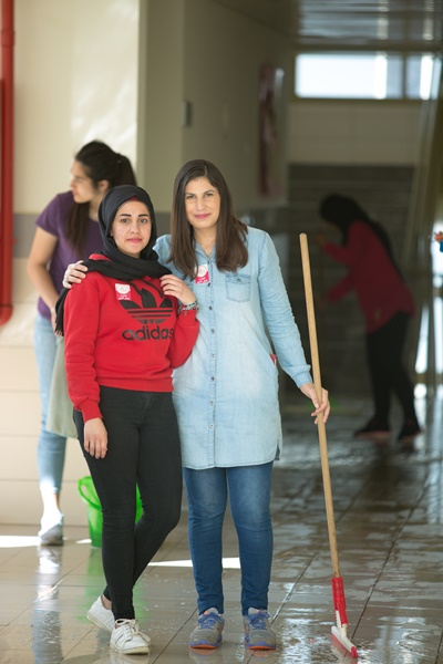 يوم الأعمال الخيرية في مدرسة آفاق الثانويّة كفر مندا