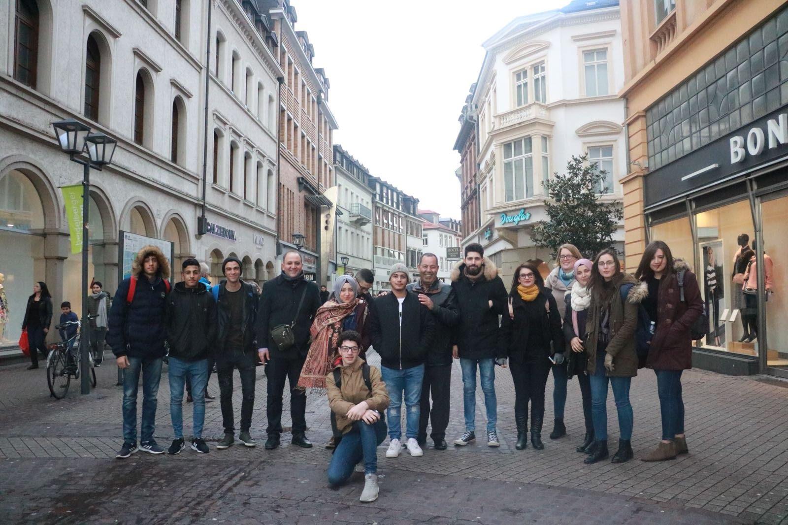 اليوم الاول لبعثة مدرسة آفاق في مدينة هايدلبرج الالمانية
