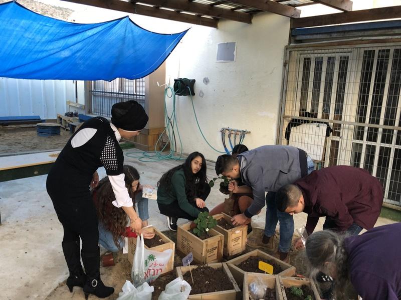 آفاق وهاردوف في عمل تطوعي