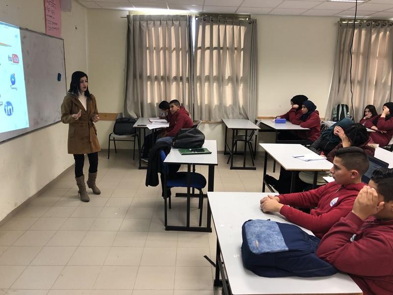 أسبوع الانترنت الآمن في مدرسة آفاق الثانوية كفرمندا