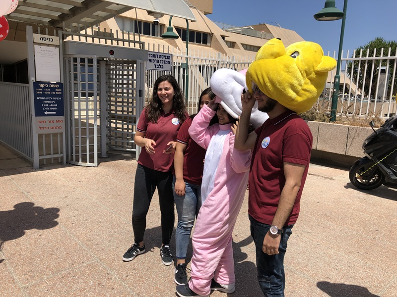 زيارة قسم الاطفال في مستشفى الكرمل